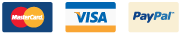 We Accept Visa, MasterCard and Paypal