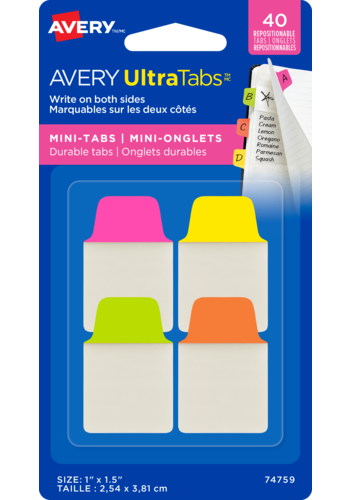 Avery UltraTabs<sup>MC</sup> Mini-Onglets 1