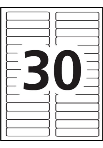 Avery filing labels 5066 template 30 labels per sheet for Free template for labels 30 per sheet
