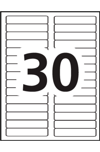 Avery Filing Labels 5366 Template 30 Labels Per Sheet