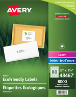 Avery<sup>&reg;</sup> Eco-Friendly Address Labels 48467