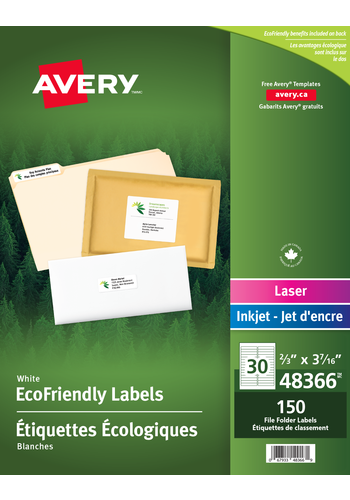 Avery<sup>®</sup> Eco-Friendly File Folder Labels - Avery<sup>®</sup> Eco-Friendly File Folder Labels