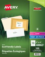 Avery<sup>&reg;</sup> Étiquettes d'expédition écologiques pour imprimantes à laser ou jet d'encre 48863