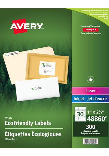 Avery<sup>&reg;</sup> Eco-Friendly Address Labels - Avery<sup>&reg;</sup> Eco-Friendly Address Labels