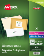 Avery<sup>&reg;</sup> Eco-Friendly Return Address Labels 48867