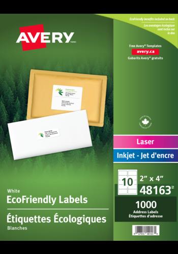 Avery<sup>&reg;</sup> Étiquettes d'expédition écologiques pour imprimantes à laser ou jet d'encre - Avery<sup>&reg;</sup> Étiquettes d'expédition écologiques