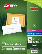 Avery<sup>®</sup> Eco-Friendly Address Labels 48460