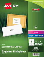 Avery<sup>&reg;</sup> Eco-Friendly Shipping Labels 48464