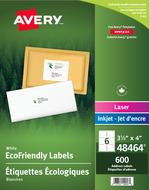 Avery<sup>®</sup> Étiquettes d'expédition écologiques pour imprimantes à laser ou jet d'encre 48464