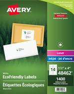 Avery<sup>&reg;</sup> Étiquettes d'adresse écologiques pour imprimantes à laser ou jet d'encre 48462