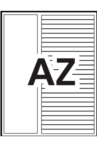 Avery® Ready Index® Customizable Table of Contents A-Z Tab - 11844 - Template