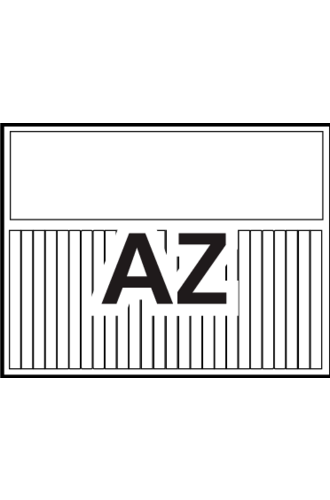 Avery® Ready Index® Customizable Table of Contents A-Z Tab - 11844 - Landscape - Word Template