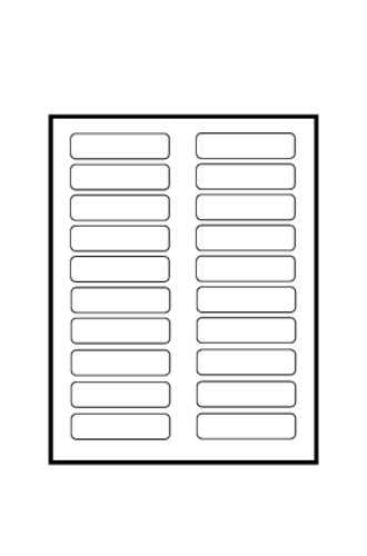 Avery® Tabbed Bookmark Plastic Dividers 5-Tab - 24909 - Template