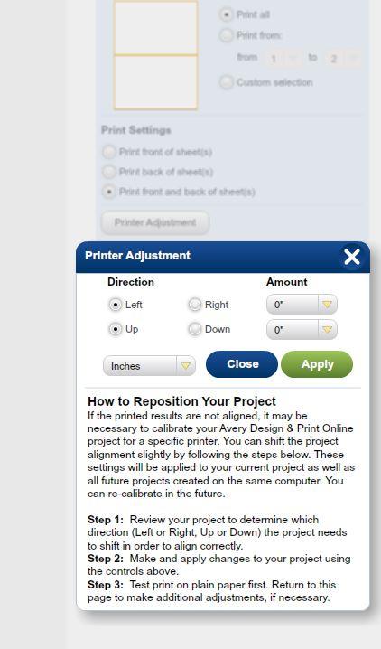 Printing Tips - Avery Design & Print Online