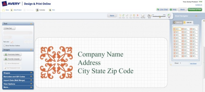 How to Format a Template in Avery Design Print Online Avery