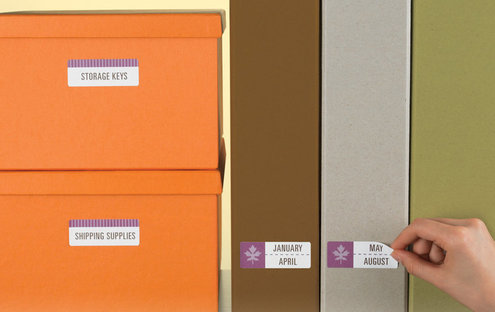 organized workplace with Avery ID Labels