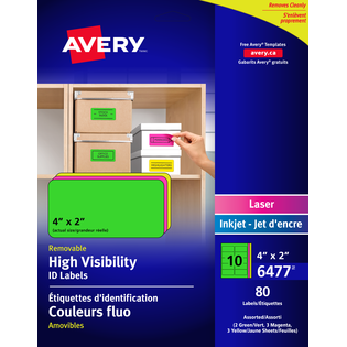 Avery® High Visibility Removable ID Labels