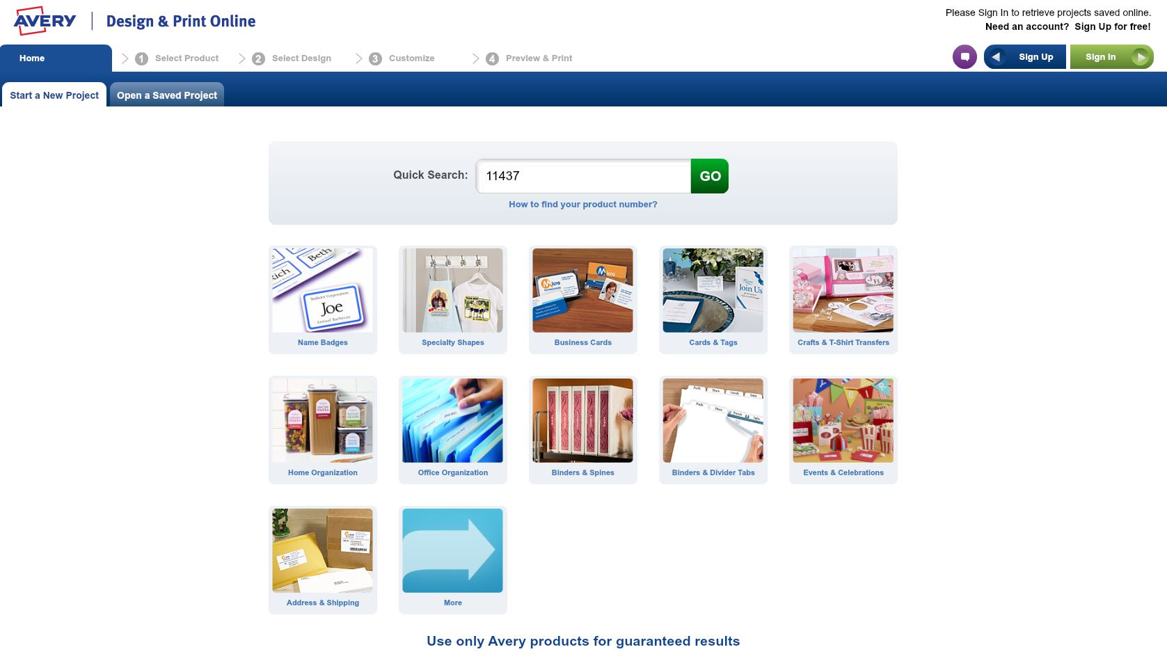 Avery Design & Print Online Easy apply indexmaker