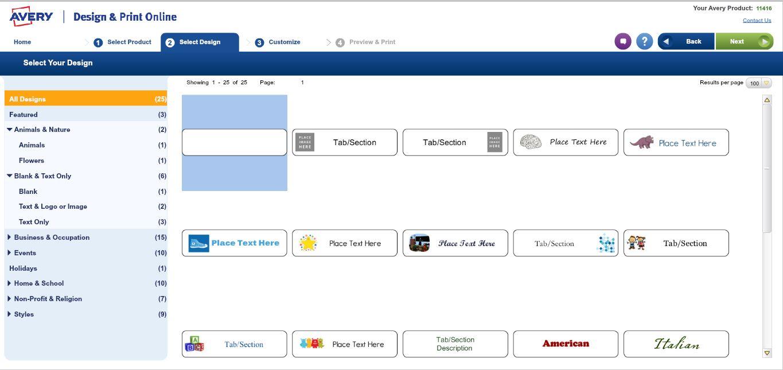 Choose Design for Easy apply indexmaker dividers