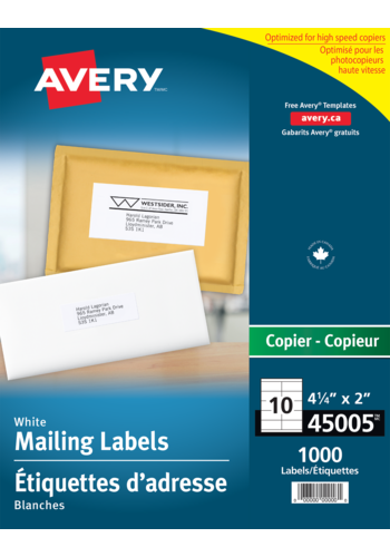 Avery<sup>®</sup> Address Labels for Copiers - Avery<sup>®</sup> Address Labels