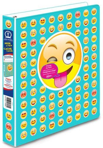 Avery® 17698 - Peek A View Binders,  Holds 8-1/2in. x 11in. Paper, Emoji