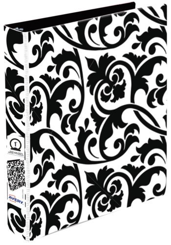 Avery® 17710 - Economy Binder,  Holds 8½in. x 11in. Paper, Black Floral