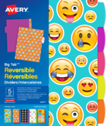 Avery<sup>&reg;</sup> Big Tab&trade; Reversible Dividers - Emoji 24974