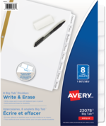 Avery<sup>®</sup> Big Tab<sup>™</sup> Write & Erase Dividers 23078