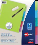 Avery<sup>&reg;</sup> Intercalaires Écrire et effacer Big Tab<sup>MC</sup> 23180