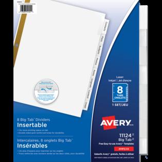 Avery® Intercalaires Insérables Big TabMC