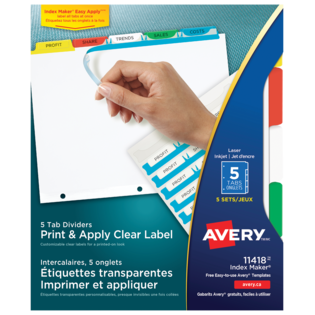 Avery® Print & Apply Clear Label Dividers