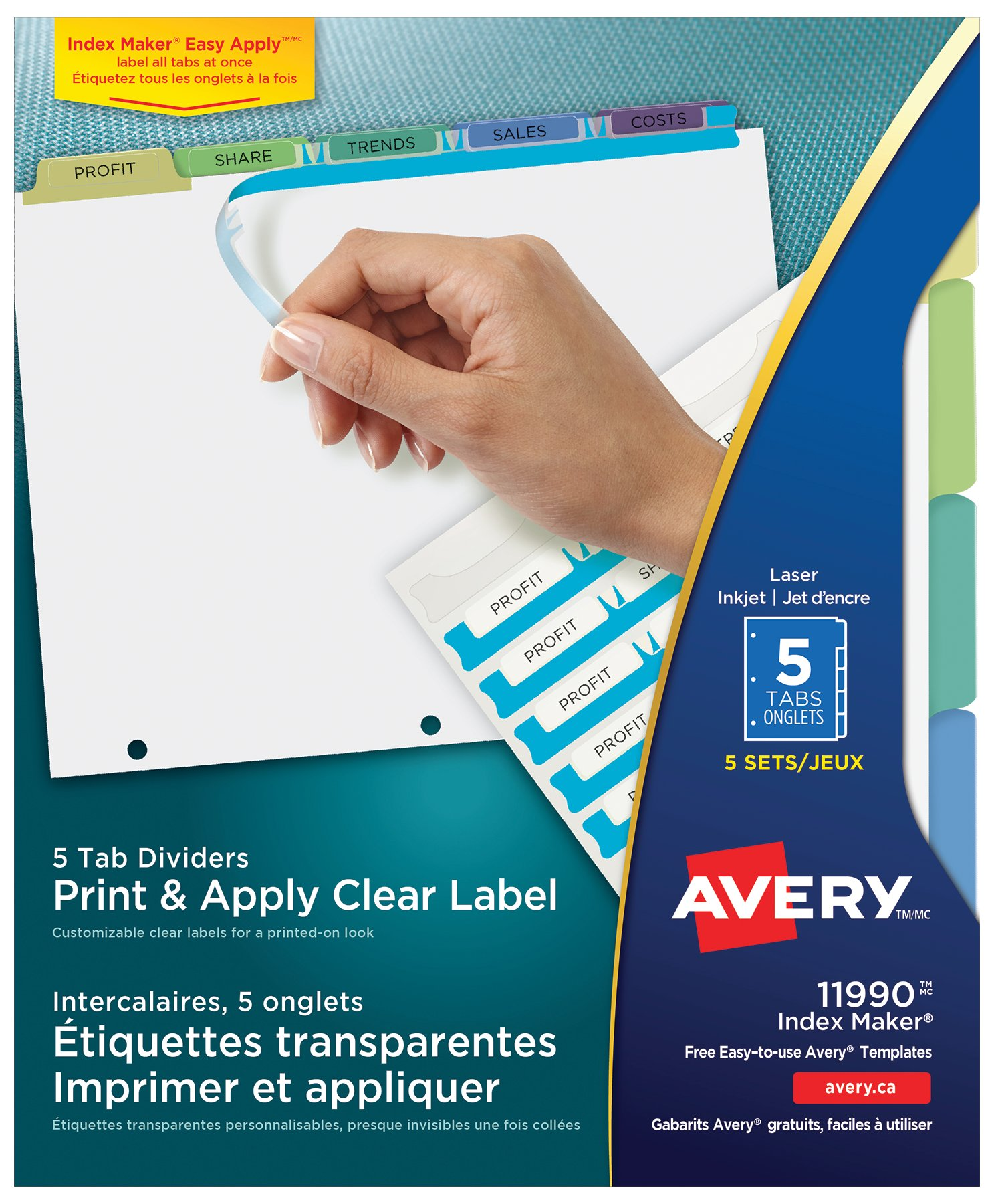 Conventions meetings dividers products for Avery template 11447