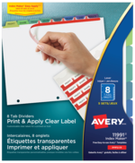 Avery<sup>®</sup> Print & Apply Clear Label Dividers with Index Maker<sup>®</sup> Easy Apply™ Labels 11991