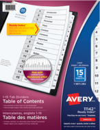 Avery<sup>&reg;</sup> Ready Index<sup>&reg;</sup> Table of Content Dividers 11142