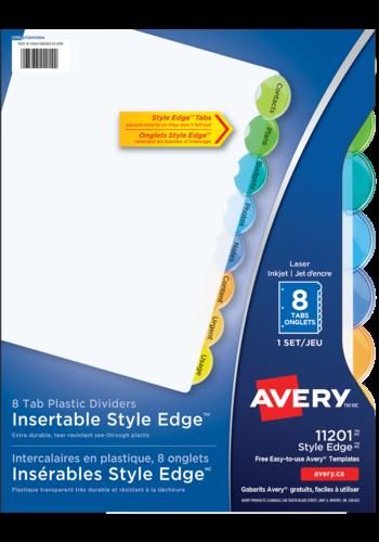 Avery<sup>&reg;</sup> Intercalaires en plastique Insérables Style Edge<sup>MC</sup> - Avery<sup>&reg;</sup> Intercalaires en plastique Insérables Style Edge<sup>MC</sup>