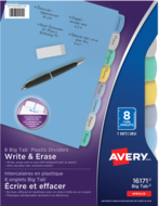 Avery<sup>®</sup> Big Tab™ Write & Erase Plastic Dividers 16171