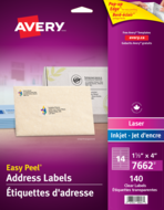 Avery<sup>®</sup> Clear Address Labels with Easy Peel<sup>®</sup> 7662