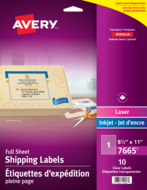 Avery<sup>&reg;</sup> Clear Shipping Labels 7665
