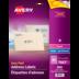 Avery<sup>®</sup> Étiquettes d'adresse transparentes avec Easy Peel<sup>®</sup> pour imprimantes à laser ou jet d'encre - Avery<sup>®</sup> Étiquettes d'adresse transparentes