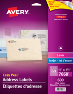 Avery<sup>®</sup> Clear Address Labels with Easy Peel<sup>®</sup> 7668
