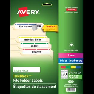 Avery® Étiquettes de classement