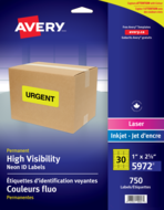 Avery<sup>&reg;</sup> High Visibility Neon ID Labels 5972