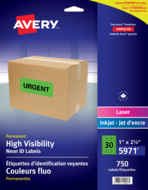 Avery<sup>&reg;</sup> High Visibility Neon ID Labels 5971