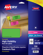 Avery<sup>®</sup> High Visibility Neon ID Labels 5973