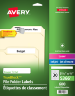 Avery<sup>®</sup> Filing Labels with TrueBlock™ Technology 5366