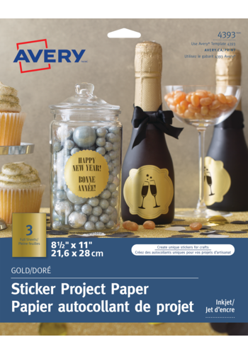 Avery<sup>&reg;</sup> Gold Sticker Project Paper - Avery<sup>&reg;</sup> Gold Sticker Project Paper