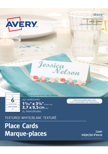 Avery<sup>®</sup> Textured Place Cards - Avery<sup>®</sup> Textured Place Cards