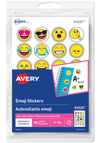 Avery<sup>&reg;</sup> Emoji Stickers - Avery<sup>&reg;</sup> Emoji Stickers