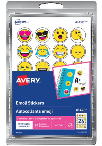 Avery<sup>&reg;</sup> Autocollants emoji - Avery<sup>&reg;</sup> Autocollants emoji