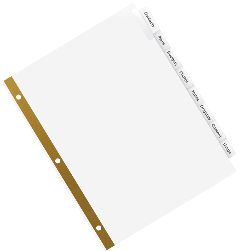Avery 11124 Insertable Big Tab Dividers 8 12 X 11 Clear